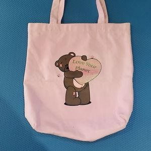 Handbags - Pink tote cotton bag